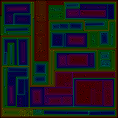 Rainbow Labyrinths: Mazes
